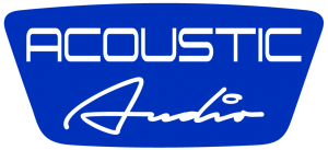 Acoustic Audio blue solid logo
